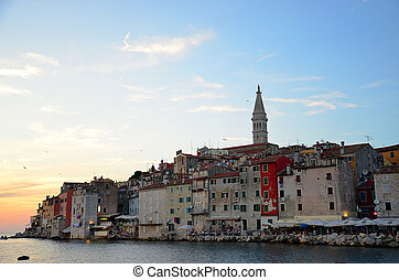 Rovinj Croatia sunset - Sunset view of Rovinj in Istria,...
