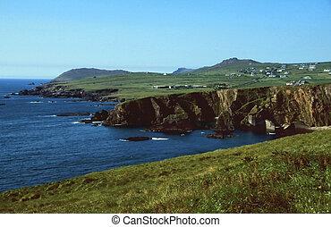 Cliff coast near Dingle in County Kerry, Ireland