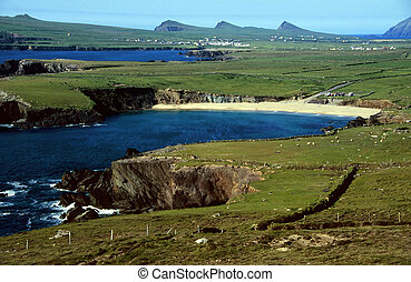 Cliff coast near Dingle in County Kerry, Ireland