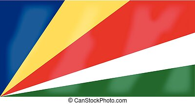 Seychelles Flag - The flag of the African country Seychelles