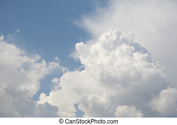 Clouds in the sky. - Spring bright sunny day on the cloud...