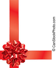 Gift Bow - Red Gift Bow (vector)