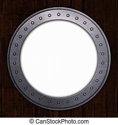 Port Hole with white space - 3D render of a port hole with...