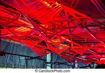 futuriste, plafond,