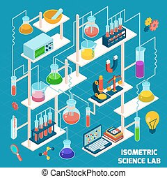 Isometric Science Lab - Isometric science lab research...