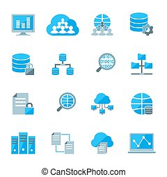 Big data icons - Big data secure exchange and analysis...