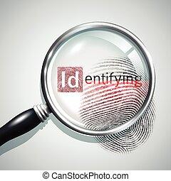 Fingerprint Search Illustration - Fingerprint search concept...