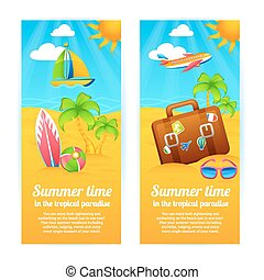 Summer Vacation Banners - Summer time tropical paradise...