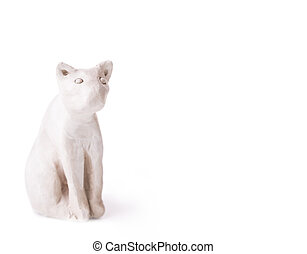 cat toy clay Isolated on white background