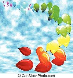 baloon against a blue sky