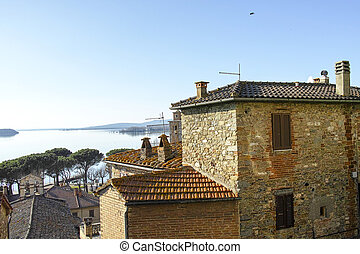 Passignano sul Trasimeno - Clock tower in Passignano sul...