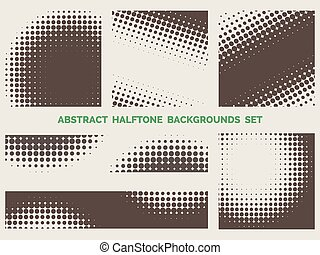 Grunge halftone patterns set - Set of grunge halftone...