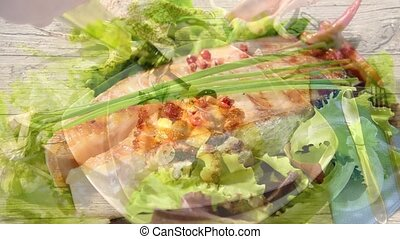 seafood montage - seafood dishes edited sequence