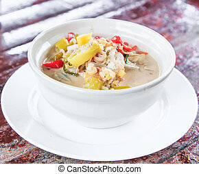 Crab soup - tom yam - tom yam crab Thai Food