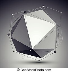 Geometric vector abstract 3D object