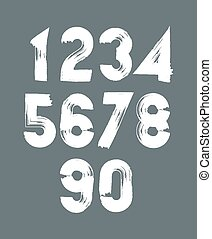 Handwritten vector numbers - Handwritten contemporary vector...
