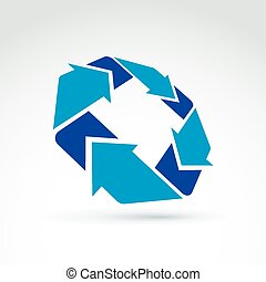 Vector abstract 3D icon, symbol