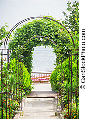 arch plants way to the sea