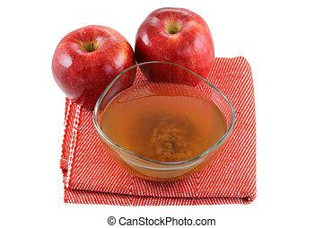 manzana, sidra, Vinagre, con, madre,