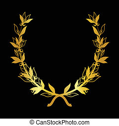 Vector decorative ornamental background with golden...