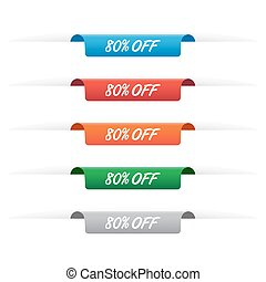 80 off paper tag labels in various colors