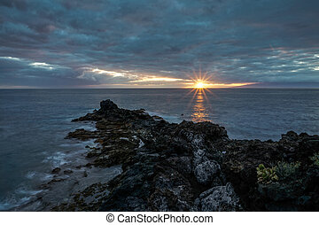 Sunset viewed from Callao Salvaje Santa Cruz de Tenerife...