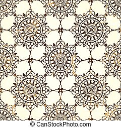 Lace seamless pattern with grunge effect EPS 10 vector...