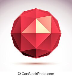 Vector abstract 3D object, design