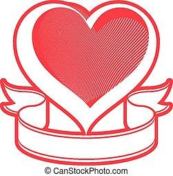 Loving heart vector illustration.