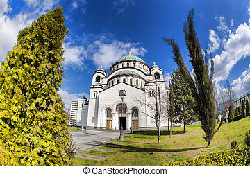 St Sava Cathedral in Belgrade, Capital city of Serbia - St...