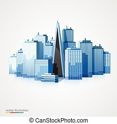Modern city landscape background