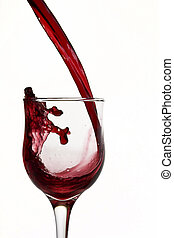 red wine - Red wine poured into glass