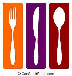 fourchette, couteau, cuillère