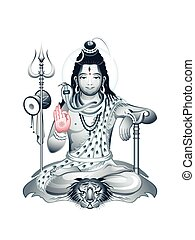 Supreme God Shiva - Indian Supreme God Shiva sitting in...
