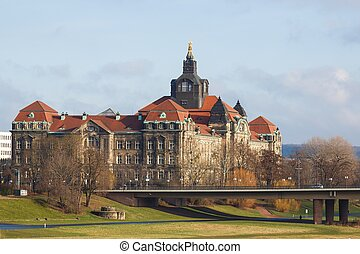 The Saxon State Chancellery at morning time