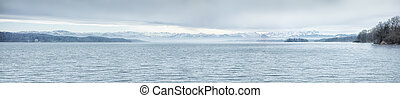 Zugspitze Starnberg Lake - An image of the Zugspitze at...