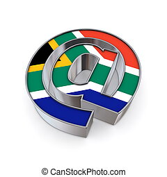 AT National - South Africa - silver shiny chrome @-symbol on...