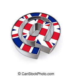 AT National - United Kingdom - silver shiny chrome -symbol...