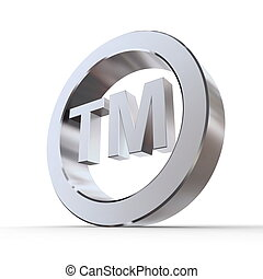 Shiny Trademark Symbol - shiny metal trademark sign -...