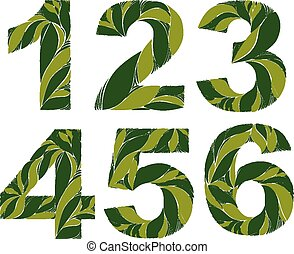 Spring floral numbers, eco style