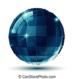 Contemporary 3d spherical object