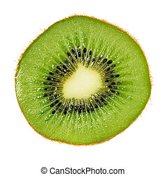 kiwi isolated - Slice of kiwi fruit isolated on white