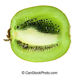 kiwi fruit - Slice of kiwi fruit isolated on white