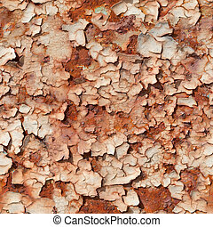 Seamless texture of rusty steel with peeled paint - Seamless...