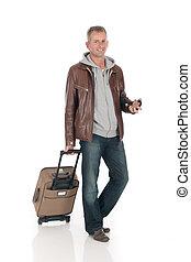 Handsome man, commuter - Handsome middle aged man, commuter...