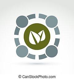 Green eco conceptual symbol, green