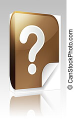 Question mark sticker box package - Software package box...