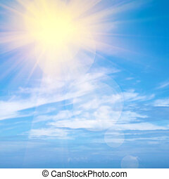 Heavenly Sky - Heavenly blue sky with bright sunshine and...