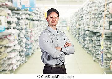 worker in shop