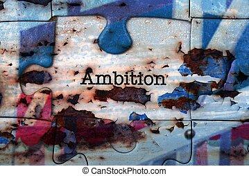 Ambition puzzle concept
